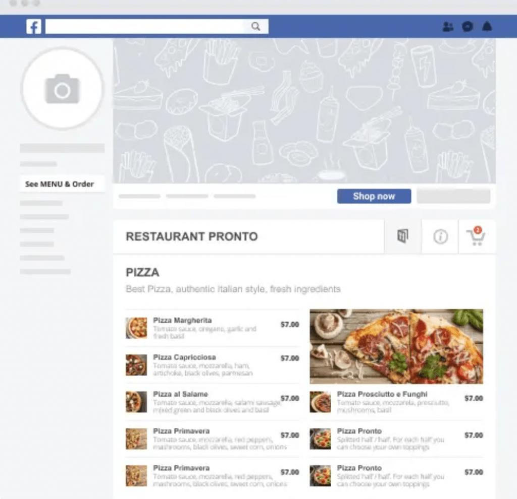 Facebook Online Restaurant Ordering System